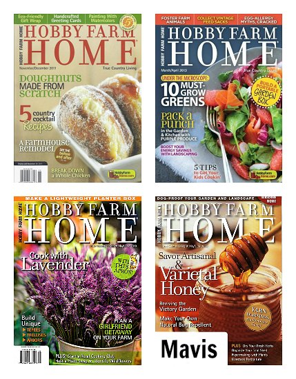1 Year Subscription to Hobby Farm Home Magazine for Only $7.50