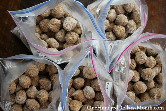 Freezer Meal – Sweet and Sour Meatballs