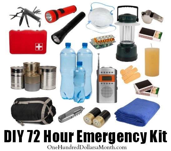 DIY 72 Hour Emergency Kit