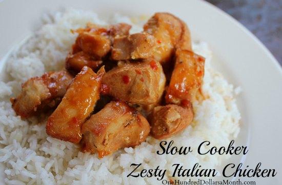 Easy Slow Cooker Meals - Zesty Italian Chicken