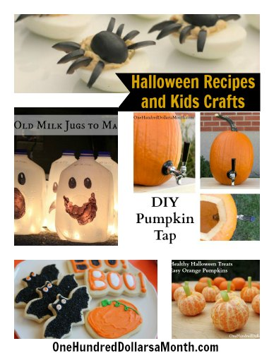 Halloween Recipe and Kids Craft Round Up