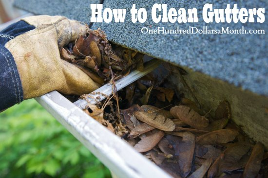 How To Clean Gutters One Hundred Dollars A Month