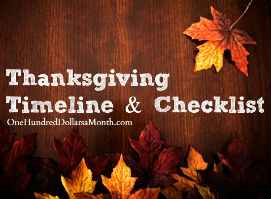Thanksgiving Planning Timeline and Checklist
