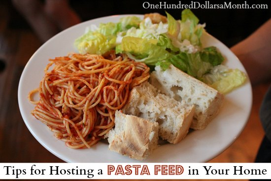 Tips for Hosting a Pasta Feed in Your Home