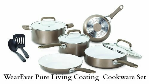 WearEver 10-Piece Ceramic Cookware Set