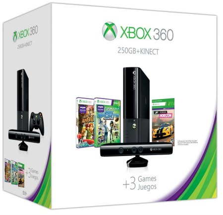 Xbox 360 E 250GB Kinect Holiday Value Bundle