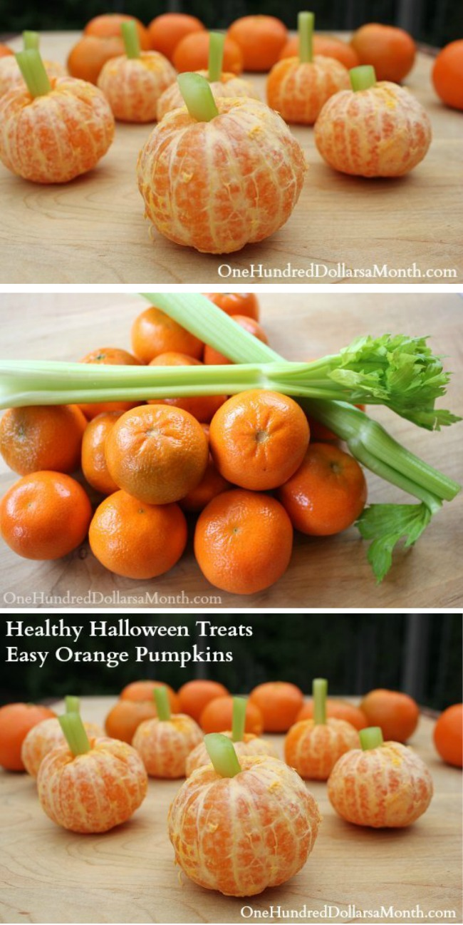 Healthy Halloween Treats: Easy Orange Pumpkins