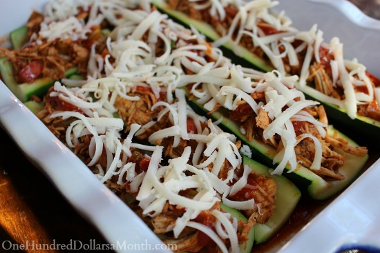 Chicken Enchilada Stuffed Zucchini Boats - One Hundred ...