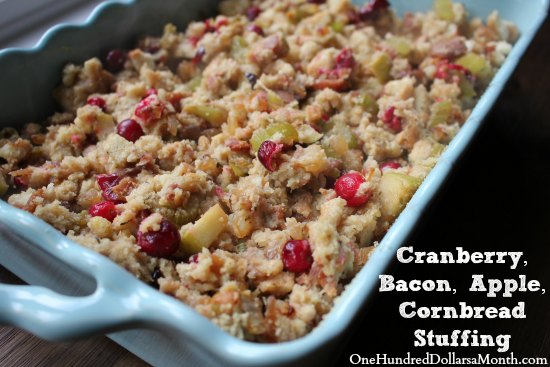Herb And Bacon Corn-Bread Stuffing Recipe — Dishmaps