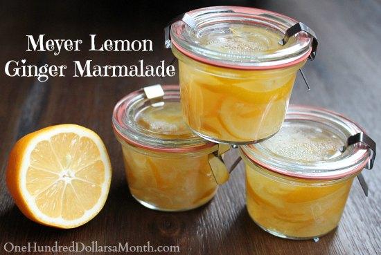 Meyer Lemon-Ginger Marmalade Recipe