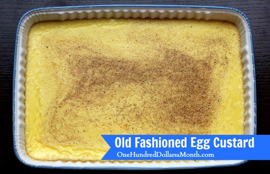 Old Fashioned Egg Custard