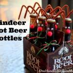 Easy Kids Christmas Crafts – Reindeer Root Beer Bottles
