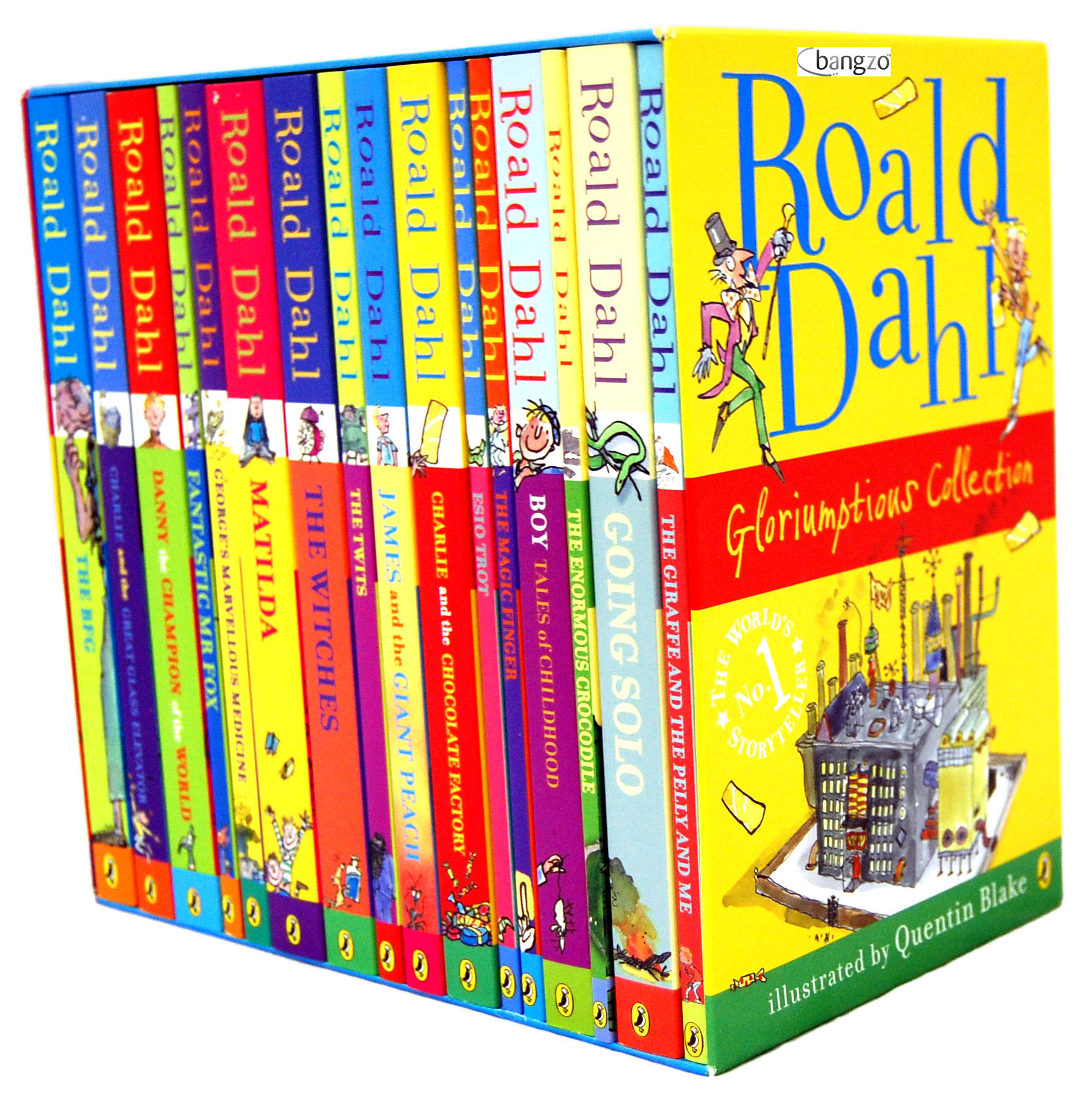 books dahl roald series children christmas childrens collection gifts box perfect kid bfg matilda literature gloriumptious famous author onehundreddollarsamonth gift