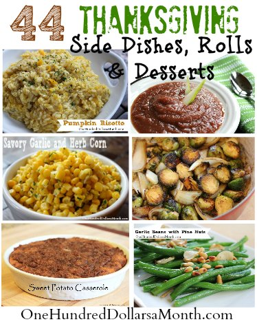 Thanksgiving Side Dishes and Dessert Recipes