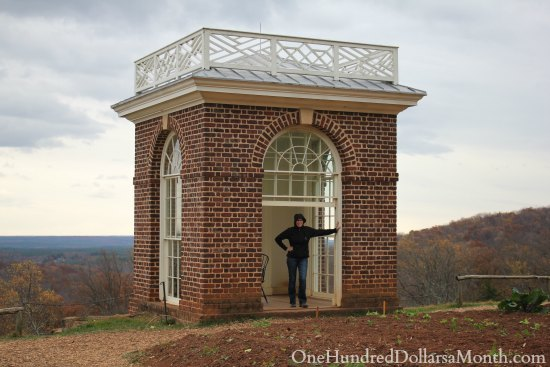Thomas Jefferson's Monticello Garden in the Fall