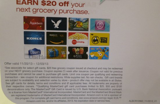 albertsons $20 off coupon