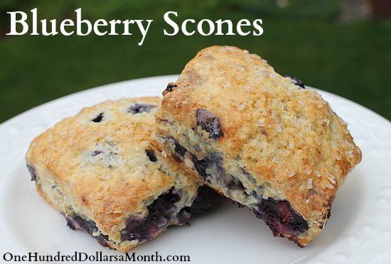 Homemade Blueberry Scones