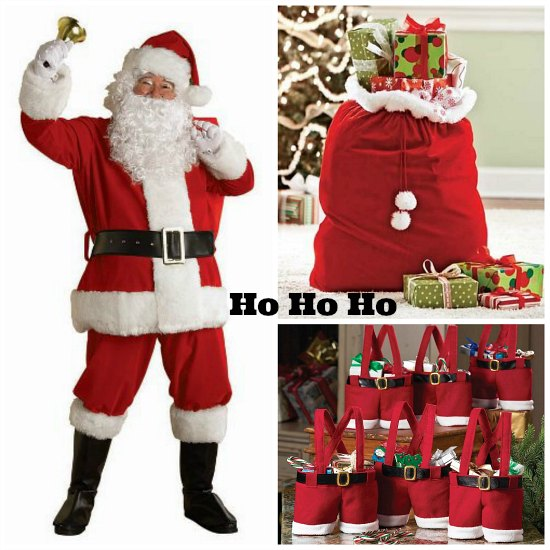 red santa sacks