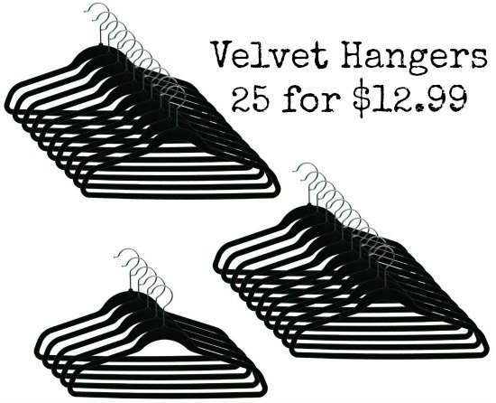 Closet Complete Ultra Thin Heavy Duty No Slip Velvet Suit Hangers