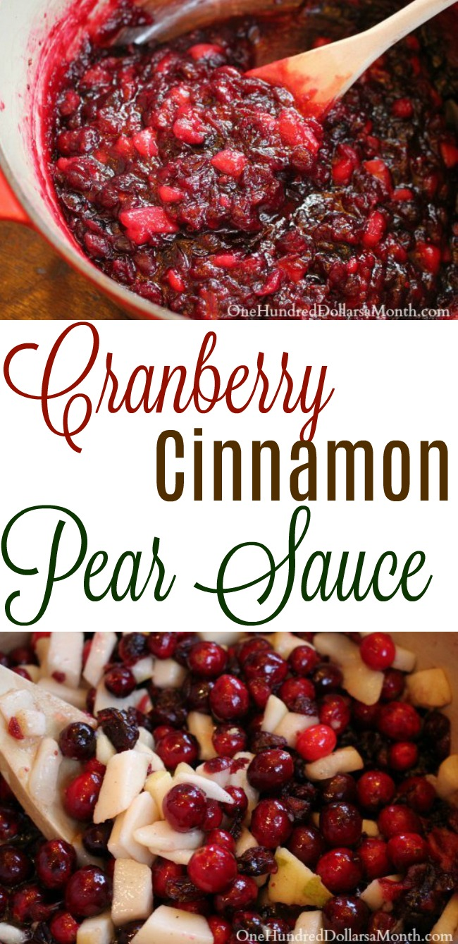 Cranberry Cinnamon Pear Sauce – Perfect with Ham or Turkey