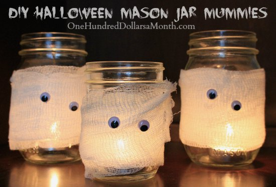 DIY Halloween Mason Jar Mummies Easy Crafts for Kids