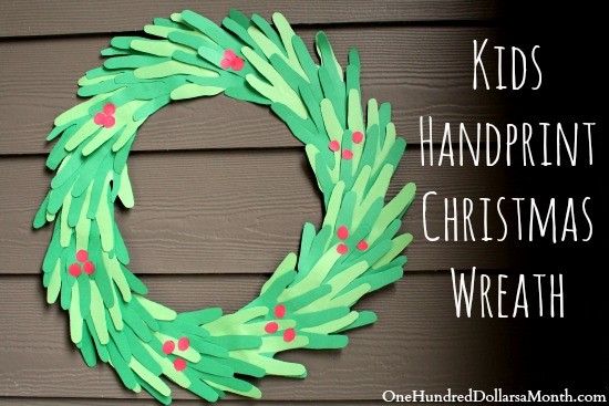 Easy Christmas Crafts for Kids - Handprint Christmas Wreath