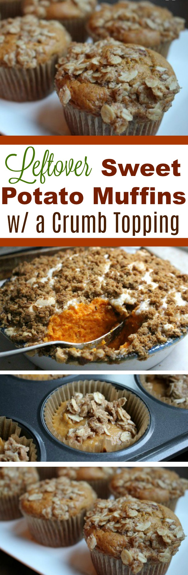 Thanksgiving Leftovers – Sweet Potato Muffins with Crumb Topping