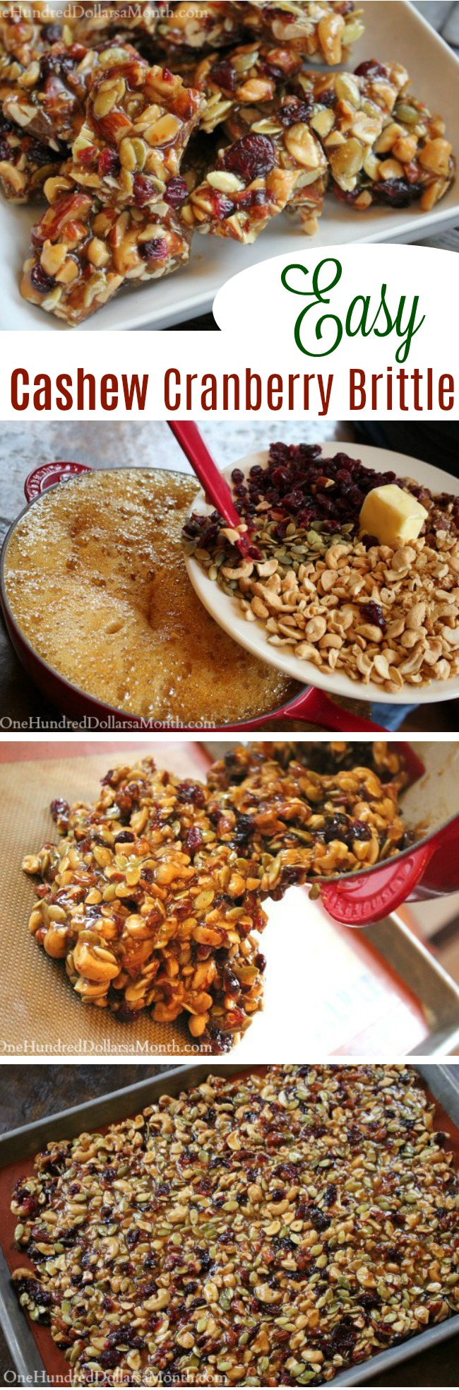 Cashew Cranberry Brittle