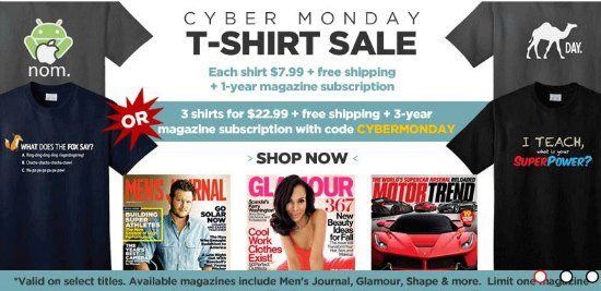 cyber monday t shirt sale