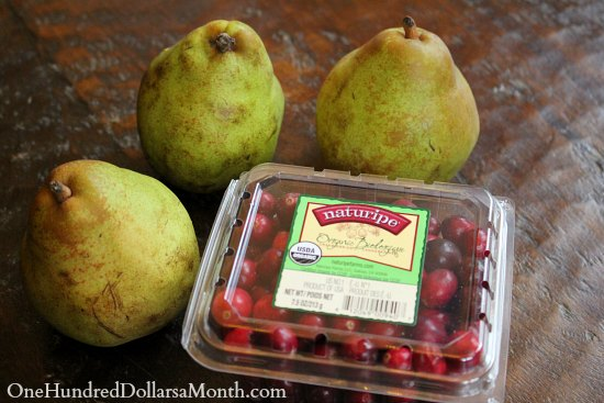 pears and cranberries