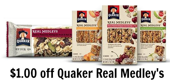quaker medley's bars coupon