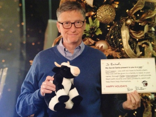 Bill Gates Plays Secret Santa