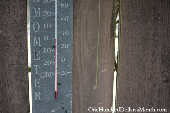 thermometer snow winter