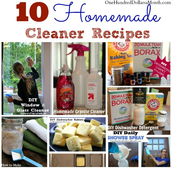 10 Homemade Cleaner Recipes