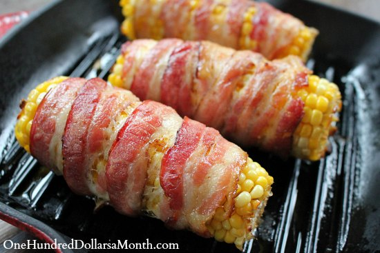 Bacon-Wrapped Corn Recipe — Dishmaps
