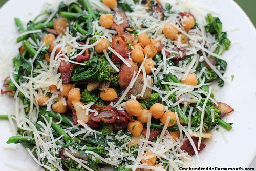 Chickpeas with Broccoli Raab and Bacon
