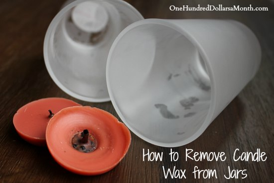 how to remove candle wax from jars one hundred dollars a month. Black Bedroom Furniture Sets. Home Design Ideas