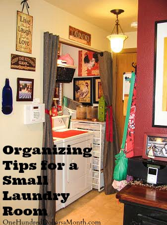 Organizing Tips for a Small Laundry Room