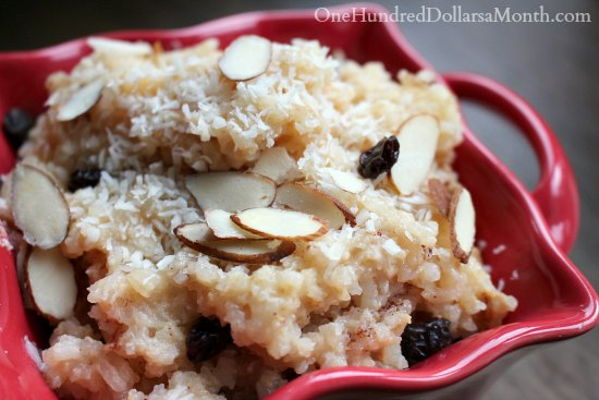 Slow Cooker Coconut & Almond Rice Pudding