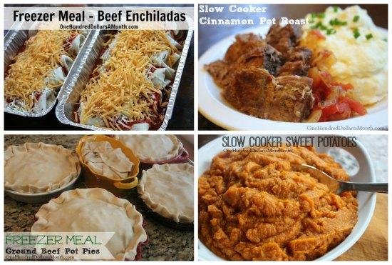 Weekly Meal Plan - Menu Plan Ideas freezer meals
