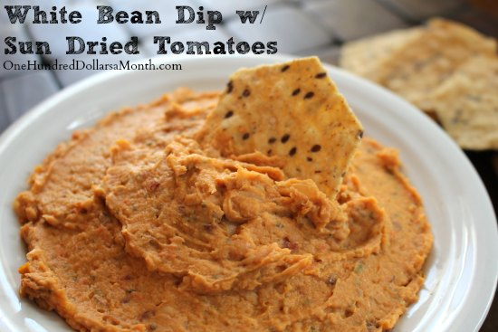 White Bean Dip with Sun Dried Tomatoes