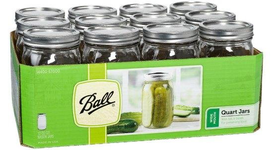 ball quart sized canning jars
