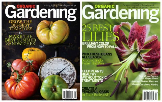 Organic Gardening Magazine $9.99 For A 1 Year Subscription   One Hundred  Dollars A Month