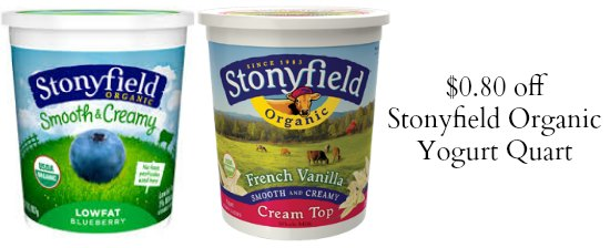 stonyfield yogurt coupons