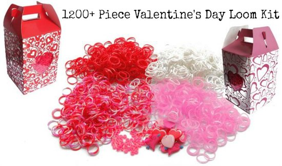 valentine's day loom bands