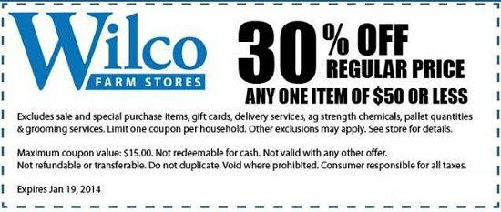 wilco coupon