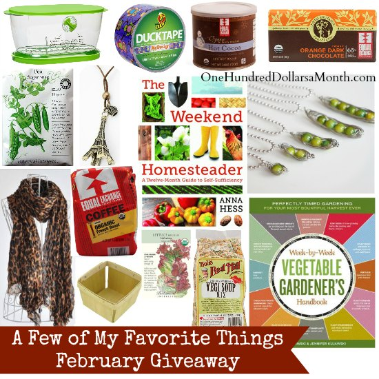 A Few of My Favorite Things – February Giveaway
