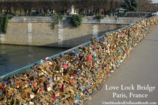 Love Lock Bridge Paris, France