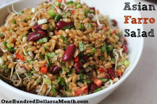 Vegan Friendly Recipes - Asian Farro Salad