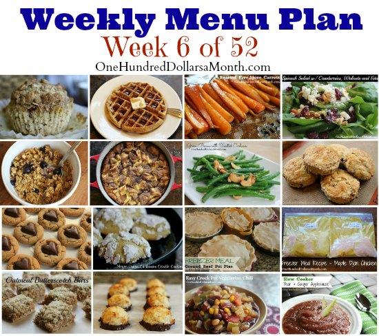 Weekly Meal Plan - Menu Plan Ideas Week 6 of 52